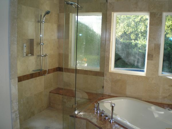 American tile and stone llc bathroom remodeling for Bathroom redesign images